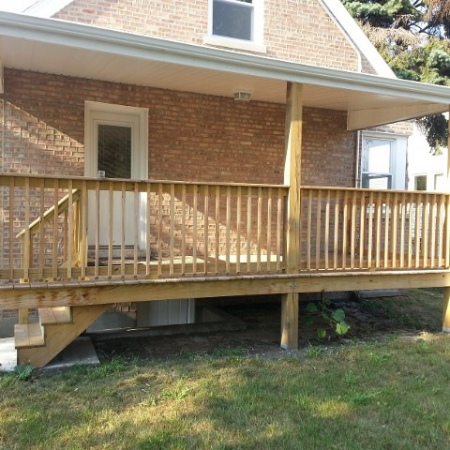 Deck made by foundation crack repair company in Chicago
