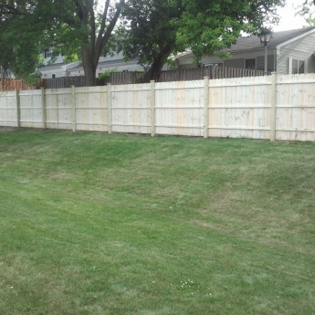 Fence built by basement wall crack and foundation crack repair company in Chicago