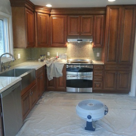 Kitchen renovation by foundation crack repair company in Chicago
