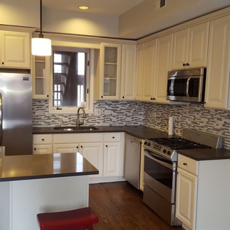 Kitchen renovated by leaking basement and foundation crack repair company in Chicago