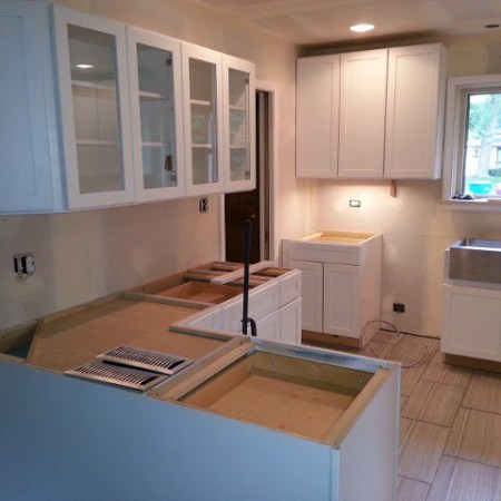 Kitchen renovated by foundation crack repair company in Chicago